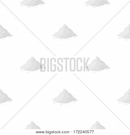 Cocain icon in cartoon style isolated on white background. Drugs symbol vector illustration.