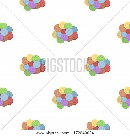 Ecstasy icon in cartoon style isolated on white background. Drugs symbol vector illustration.