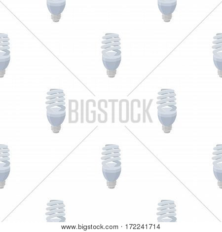 Fluorescent lightbulb icon in cartoon style isolated on white background. Light source pattern vector illustration