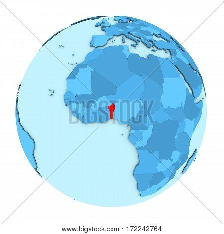 Benin On Globe Isolated
