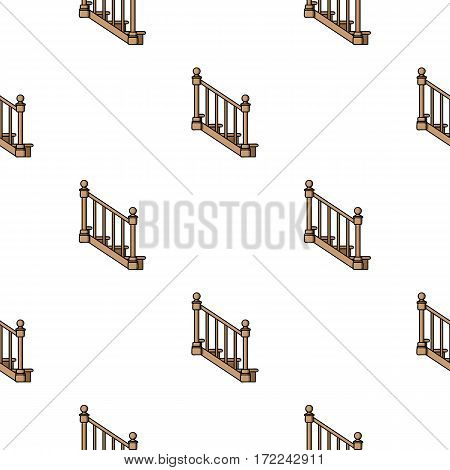 Stairs icon in cartoon style isolated on white background. Sawmill and timber pattern vector illustration.