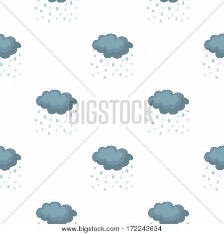 Rain icon in cartoon style isolated on white background. Weather pattern vector illustration.