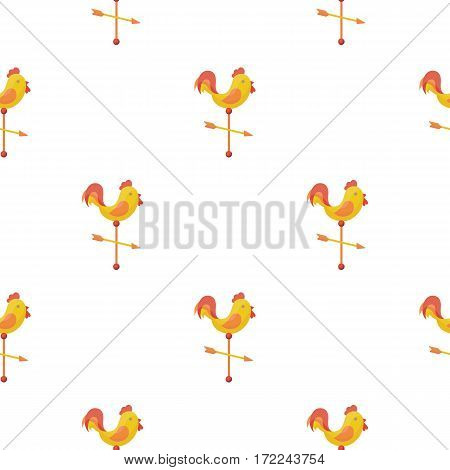 Weather vane icon in cartoon style isolated on white background. Weather pattern vector illustration.