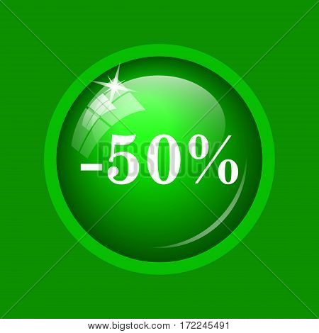 50 Percent Discount Icon