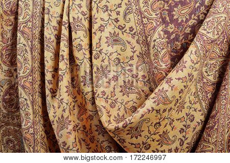 Indian Pashmina Shawl With Traditional Pattern