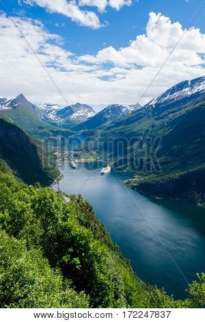 The beautiful and extravagant Geiranger Fjord in Norway