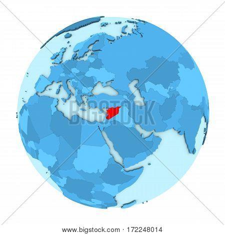 Syria On Globe Isolated