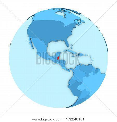 Belize On Globe Isolated