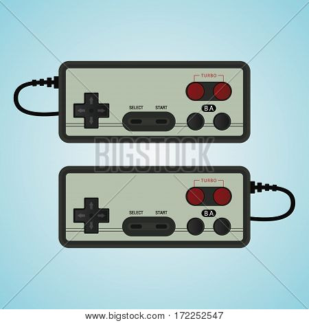 Joystick vector illustration. Gamepad for old consol.