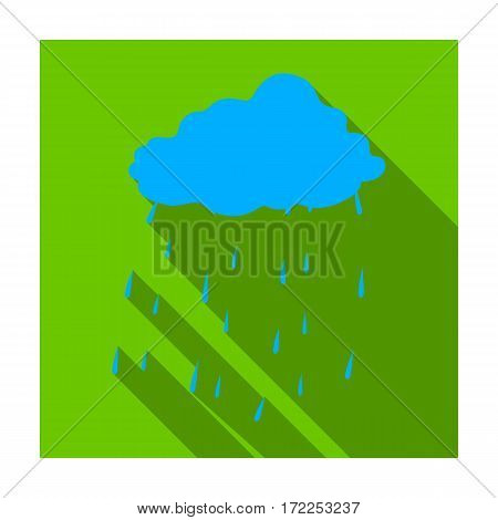 Scottish rainy weather icon in flat design isolated on white background. Scotland country symbol stock vector illustration.
