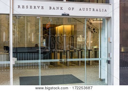 Reserve Bank Of Australia Main Entrance