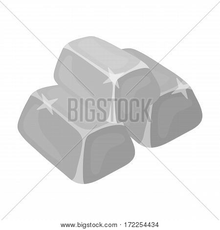 Stack of golden bars icon in monochrome design isolated on white background. Precious minerals and jeweler symbol stock vector illustration.