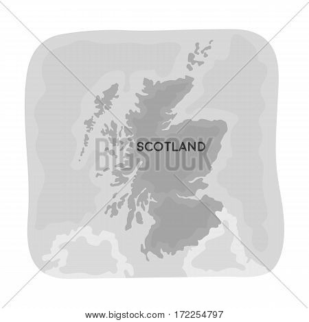 Territory of Scotland icon in monochrome design isolated on white background. Scotland country symbol stock vector illustration.