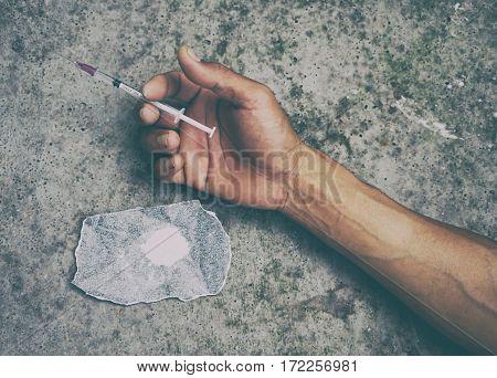 Drug Addict Man