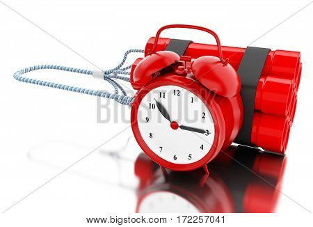 3D Dynamite Bomb With Clock Timer