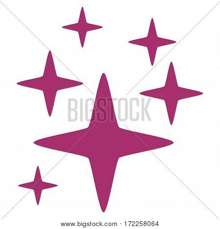 Sparkle Stars flat icon. Vector purple symbol. Pictogram is isolated on a white background. Trendy flat style illustration for web site design logo ads apps user interface.