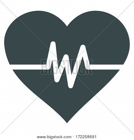 Heart Pulse flat icon. Vector soft blue symbol. Pictogram is isolated on a white background. Trendy flat style illustration for web site design logo ads apps user interface.