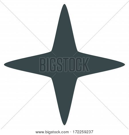 Sparkle Star flat icon. Vector soft blue symbol. Pictogram is isolated on a white background. Trendy flat style illustration for web site design logo ads apps user interface.