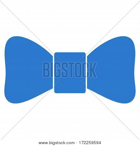 Bow Tie flat icon. Vector smooth blue symbol. Pictograph is isolated on a white background. Trendy flat style illustration for web site design logo ads apps user interface.