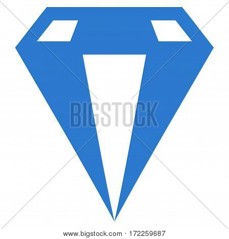 Diamond flat icon. Vector smooth blue symbol. Pictograph is isolated on a white background. Trendy flat style illustration for web site design logo ads apps user interface.