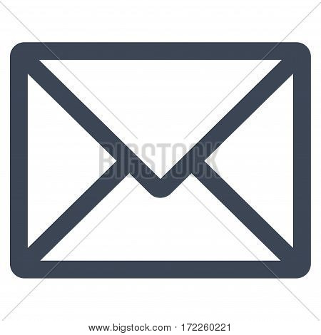 Letter flat icon. Vector smooth blue symbol. Pictogram is isolated on a white background. Trendy flat style illustration for web site design logo ads apps user interface.