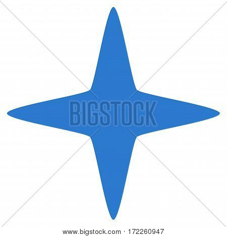 Sparkle Star flat icon. Vector smooth blue symbol. Pictograph is isolated on a white background. Trendy flat style illustration for web site design logo ads apps user interface.
