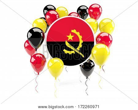Round Flag Of Angola With Balloons