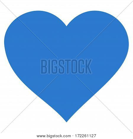 Valentine Heart flat icon. Vector smooth blue symbol. Pictogram is isolated on a white background. Trendy flat style illustration for web site design logo ads apps user interface.