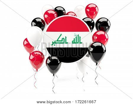 Round Flag Of Iraq With Balloons