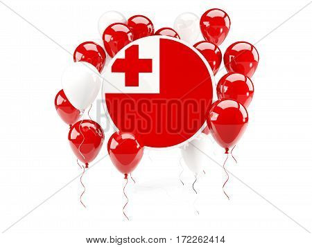 Round Flag Of Tonga With Balloons