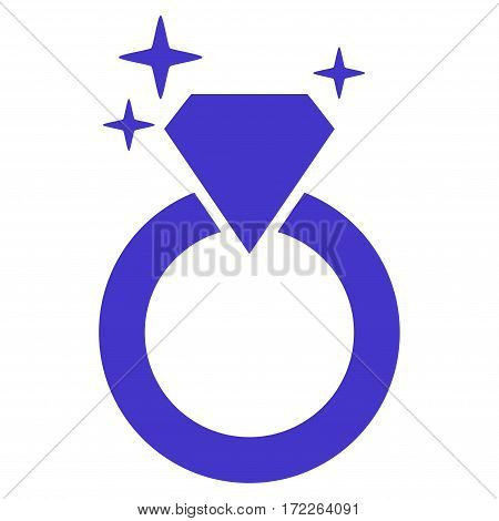 Sparkle Diamond Ring flat icon. Vector violet symbol. Pictograph is isolated on a white background. Trendy flat style illustration for web site design logo ads apps user interface.