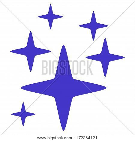 Sparkle Stars flat icon. Vector violet symbol. Pictogram is isolated on a white background. Trendy flat style illustration for web site design logo ads apps user interface.