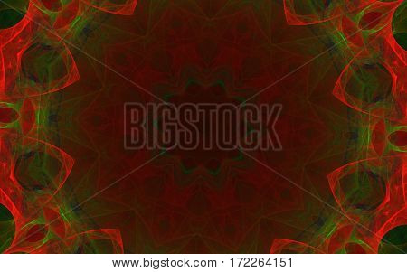 colorful kaleidoscope red green star back ground
