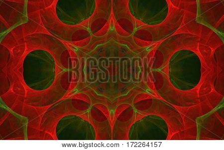colorful kaleidoscope red green circle back ground