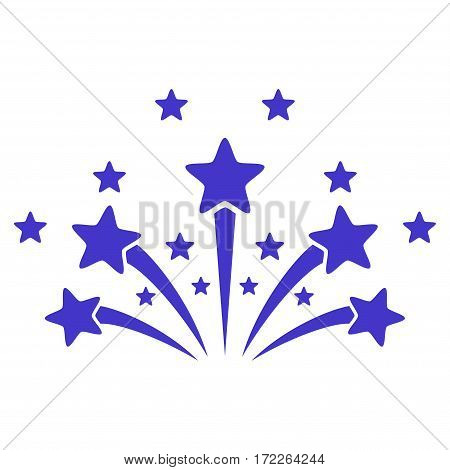 Star Fireworks flat icon. Vector violet symbol. Pictogram is isolated on a white background. Trendy flat style illustration for web site design logo ads apps user interface.