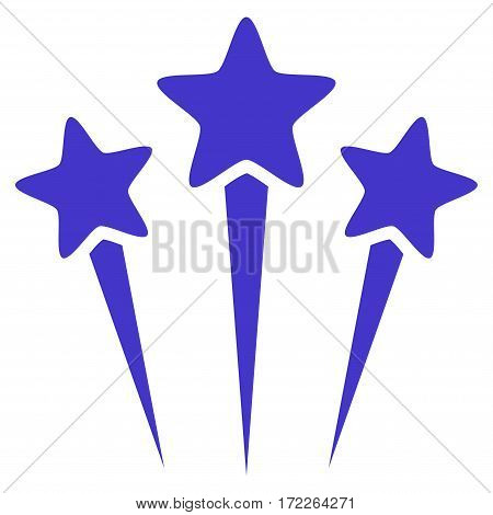 Star Salute flat icon. Vector violet symbol. Pictograph is isolated on a white background. Trendy flat style illustration for web site design logo ads apps user interface.