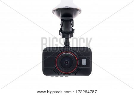 Car camera video recorder isolated white background