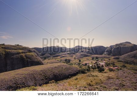 The view in Pungo Andongo rocks - Angola