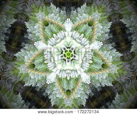 5 Sided Star Shape Extruded Mandala