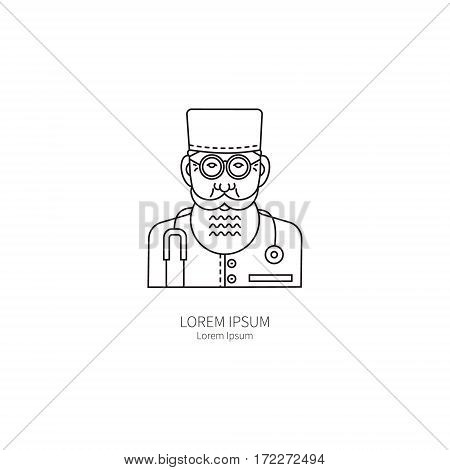 Doctor. Simple logos templates for the prevention of influenza concept