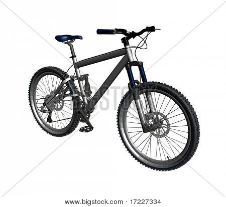 Fahrrad, isolated on white background