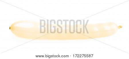 Blown shaped balloon isolated over the white background