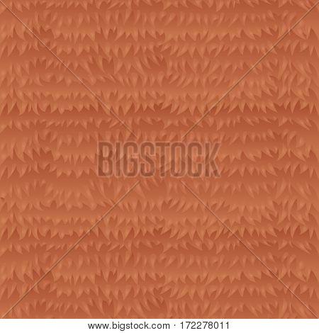 Cartoon animal red fur game texture vector template illustration