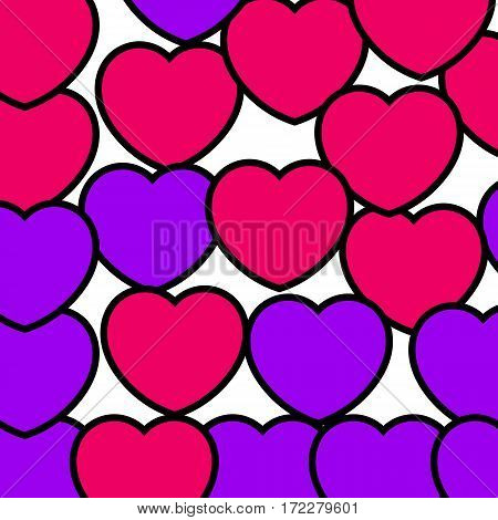 Hearts Background For Saint Valentines Day, High Definition Backdrop