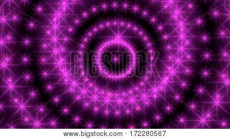 Glitter vintage lights background. Neon shine disco particles. Spiral twist. 3D rendering