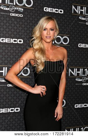 LOS ANGELES - JAN 27:  Danielle Moinet, aka Summer Rae at The NHL100 Gala at Microsoft Theater on January 27, 2017 in Los Angeles, CA