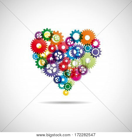 Perfect heart concept, isolated illustration on white