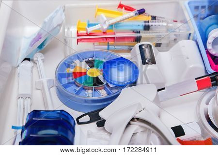 Close Up Photo Of Dentist's Tools