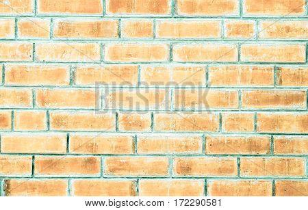 Close Up Pale Orange Brick Wall Texture Background