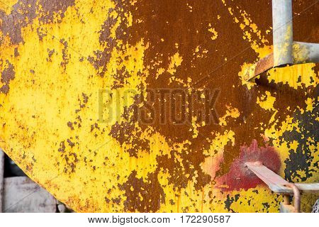 yellow rustic metal texture background outdoor wall